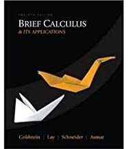 Brief Calculus & Its Applications 12th (twelve) edition