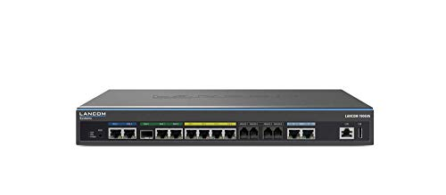 LANCOM 1906VA (EU, over ISDN), Dual-VDSL-VoIP-Router, 2x VDSL2-Vectoring Modem, 1x SFP/TP, 1x WAN-Ethernet, 2x ISDN S0 (TE/NT + NT), 4x Analog