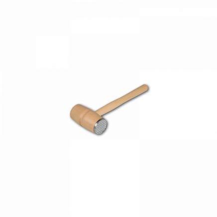 HOFMEISTER® Fleischhammer, mit Metall, EU-Naturprodukt, 28,5 cm, plastikfrei, langlebiger Fleischklopfer klopft jedes Schnitzel weich, massiver Fleischklopfer, Schnitzelklopfer