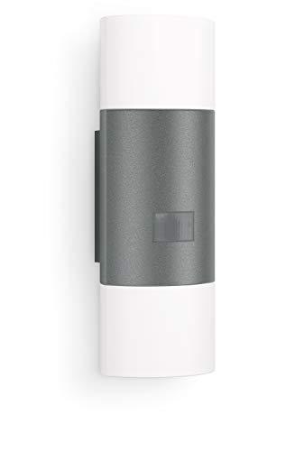 Steinel Wandleuchte L 910 LED anthrazit, 11 W, 755 lm, 180° Bewegungsmelder, 12 m Reichweite, Dauerlicht, Softlichtstart