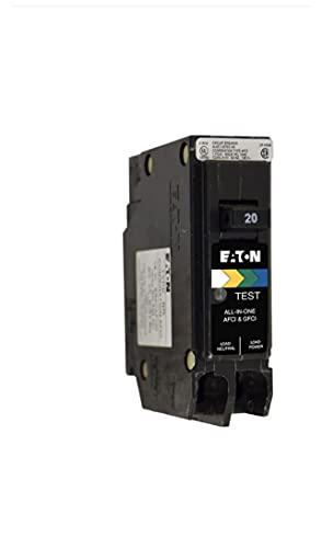 Eaton All In One Breaker Plug On Neutral Arc Fault/Ground Fault/Overcurrent Protection 20amp