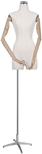 LILIS Maniqui Costura Mujer sastres maniquí modistas maniquíes Estudiantes de Moda de visualización Busto con Haya Brazo adecuados for la Ropa joyería Soporte de exhibición (Color : C)