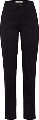 BRAX Feel Good Feel Good Damen Hose Carola – Straight Leg, Stretch, normaler Bund – Baumwolle, Baumwollstretch Perma Black 40