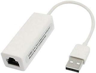 محول لبطاقة شبكة لان، بمنفذ يو اس بي 2.0 ايثرنت بسرعة 10/100 ميجا بايت بالثانية Rj45