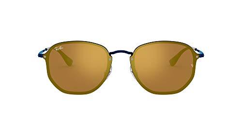 Ray-Ban 3579n Gafas de sol, Blue, 58 Unisex-Adulto