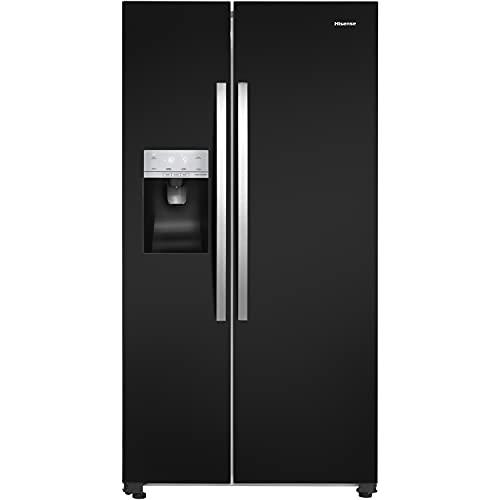 Hisense 535 Litre American Fridge Freezer - Black