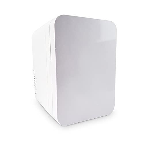 Mini refrigerador, mini refrigerador y calentador de refrigerador, mini refrigerador de 6 litros, para dormitorio, hogar, caravana, automóvil/refrigerador portátil para el cuidado de la piel