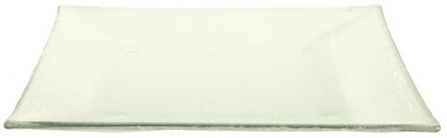 Olympia DM360 Assiette en verre, carré (Lot de 6)