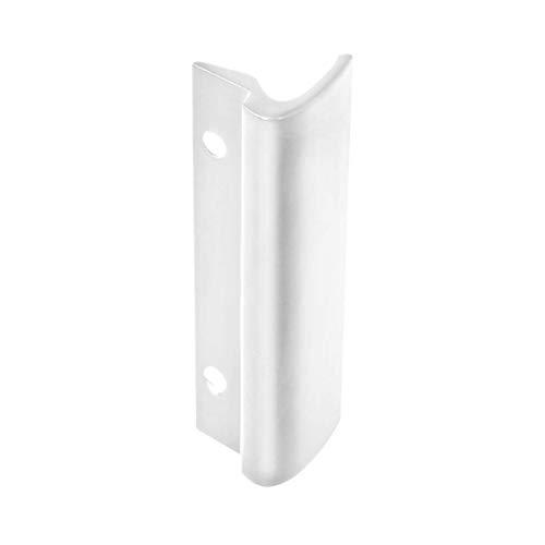 Alu Balkontür Ziehgriff Glasfalz, Farbe:Weiß RAL 9016