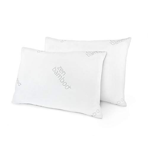Zen Bamboo Pillows for Sleeping - Queen Size, Set of 2 -...