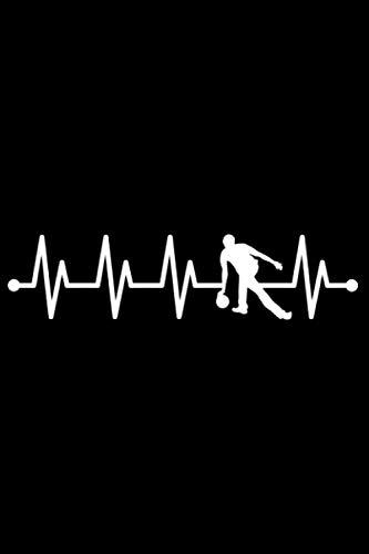 Herzschlag Bowling EKG Puls Bowlingkugel Bowler: DIN A5 Liniert 120 Seiten / 60 Blätter Notizbuch Notizheft Notiz-BlockGeschenk für Bowling Bowlen Bowler Verein Vatertag