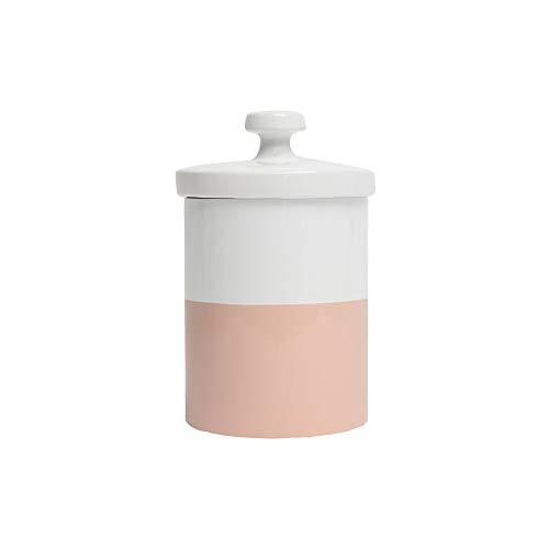 Waggo Dipper Ceramic Dog Treat Jar Heavyweight Durable Designer Dog Treat And Cookie Jar (Rose)