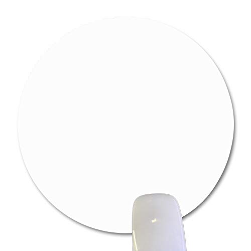 """Wknoon Single Circular Blank Mouse Pad - White - 8"""" Round Mouse Pads Diameter (200mm x 200mm x 3mm)"""