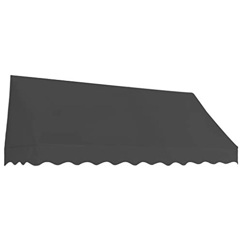 Tidyard Toldo para Bar Toldo Terraza Toldos Impermeables Exterior de Tela con Revestimiento de Pa Gris Antracita 250 x 120 cm