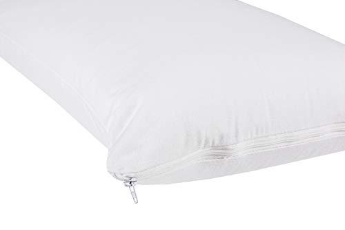 npt - Funda Protector de Almohada, Transpirable, Impermeable y antiácaros. Exterior 100% algodón(45x70 cm)