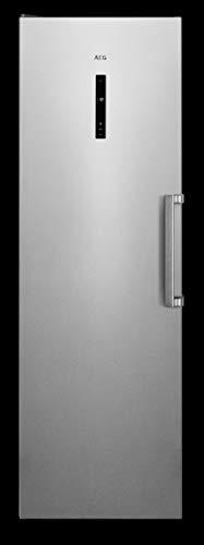 AEG AGB728E5NX Congelador Vertical 1.86 metros, Libre Instalación, Clase A++, No-Frost, Display LCD, Luces LED, 5 cajones + 2 puertas abatibles, INOX Antihuellas, Gris, 307 Litros