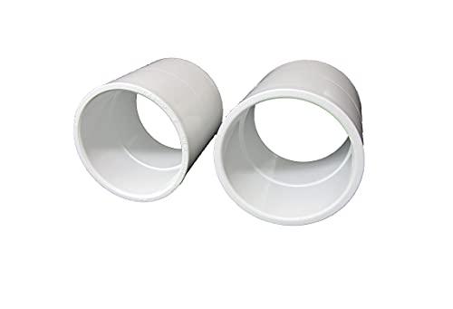 2X Coupler 2' Slip X 2' Slip Plumbing PVC Fitting for Hot Tub or Spa