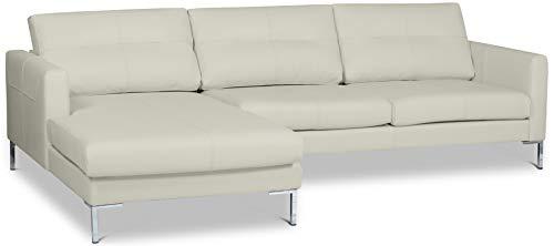 formart Wayne Ecksofa 251 in Echtleder Longchair Links Sofas, Leder, Latte, 253 x 80 x 160 cm
