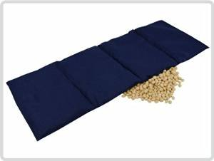 Kirschkernkissen 55x20 cm (4 Kammern), dunkelblau - Kirschkernsäckchen Körnerkissen *Top-Qualität*