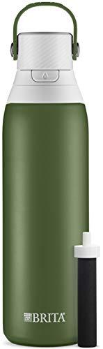Brita Premium Filtering Water Bottle, 20 oz, Forest