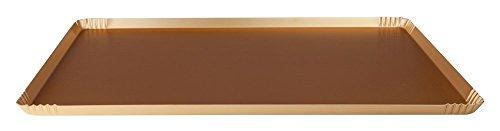 Pentole Agnelli Pasticceria e Pizza Vassoio Anodizzato, Alluminio, Oro, 60 x 40 x 1.5 cm