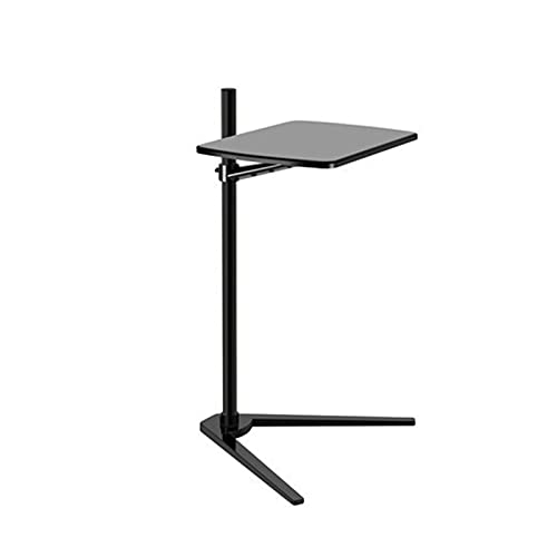 OMVOVSO Beistelltisch Für Bett Oder Sofa, Höhenverstellbarer Laptoptisch Stehpult Höhenverstellbar Laptoptisch Mit Rollen Laptop Ständer,Schwarz