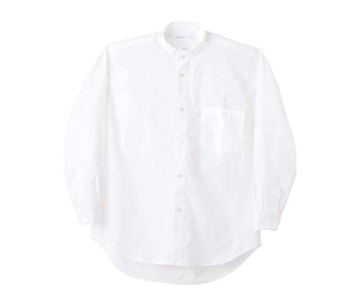 出演者プロトタイプパッチシャツ 男女兼用 長袖 白/61-6079-74