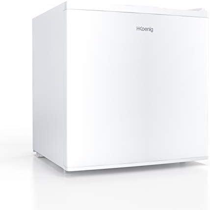 H.KOENIG Mini Congelador Vertical, 75 W, Capacidad de 34 litros, 51 cm de Altura, 2 Compartimientos, Silencioso 40 dB, Blanco FGW400