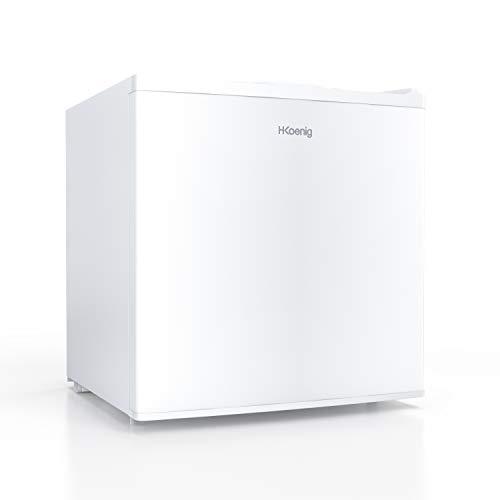 H.KOENIG Mini-Gefrierschrank FGW400 / 32 L/freistehend/kompakt/geräuschlos / 51 cm hoch/Energieklasse A+ / weiß