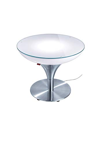 Moree Table Basse Lounge M 45 Outdoor - avec éclairage LED, Batterie et télécommande