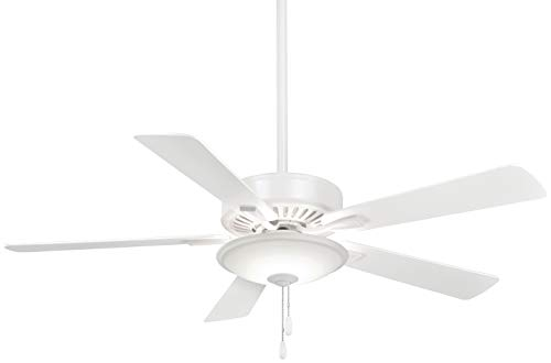Minka-Aire F656L-WH Contractor Uni-Pack 52 Inch LED Pull Chain Ceiling Fan in White Finish