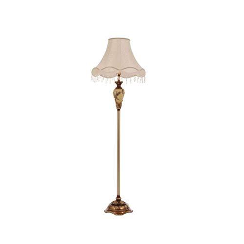 N/Z Tägliche Ausstattung Wohnzimmer im europäischen Stil Vertikale Stehlampe Fußschalter Kreativer Retro-Garten Schlafzimmer LED-Hochtischlampe (Farbe: FUSSSCHALTER)