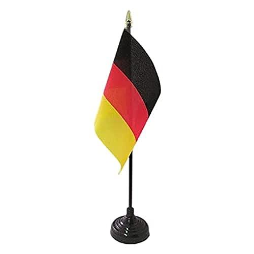 AZ FLAG Bandera de Mesa de Alemania 15x10cm - BANDERINA de DESPACHO Alemana 10 x 15 cm Punta Dorada