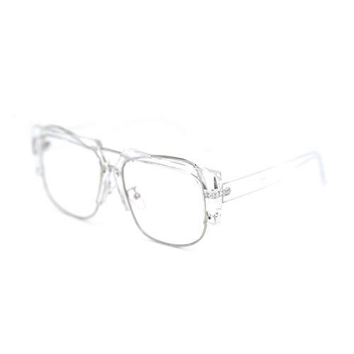 GB KK eyes Protección contra la radiación gafas azules chicas tendencia caja grande cara redonda espejo plano transparente sin grado