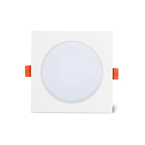 Panel IP44 Cuadrado De Aluminio Focos Panel De Inicio De Luz De Iluminación Empotrada Oculta Profesión De Una Pieza De Techo Luz Calificación [Clase Energética A +] AC85V-265V