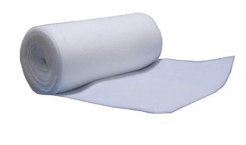 Ouate au Mètre 100g/m², 160cm de Large. 100% Polyester, Oeko-Tex, env 5 mm d'épaisseur