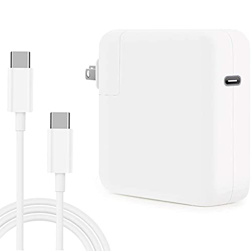YIESERRA 61W USB C Charger Power Adapter for Mac Pro 13, 15 inch, New Mac Air 13 inch 2020/2019/2018, Mac 12 inch, Thunder Bolt 3 Mac Charger Power Supply,Type C