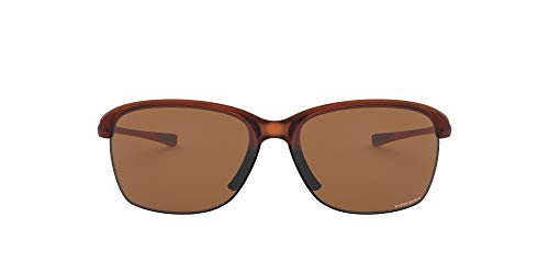 Oakley Women's OO9191 Unstoppable Rectangular Sunglasses, Rose Gold Fade/Prizm Tungsten, 65 mm