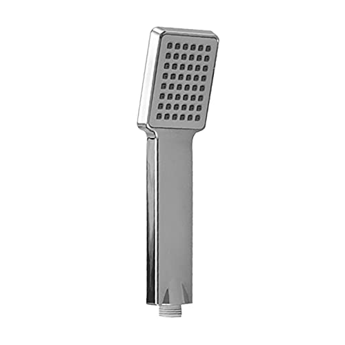 WLLYP Cabezal de Ducha Forma Cuadrada Baño Spray Agua Ahorro de Ducha de Lluvia Accesorios de baño portátil for Lluvia 1pcs (Color : Silver)