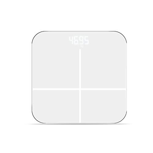 Digitale Weegschaal, Glazen Badkamer Body Vet Schaal LED USB Opladen Elektronische Weegschalen Lichaamsgewicht Balance Met Automatische Uitschakelfunctie