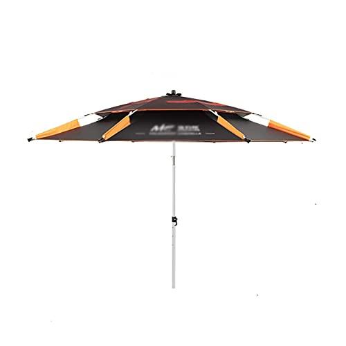 DONGTAISHANGCHENG Paraguas pesquero Plegable Paraguas al Aire Libre Resistente a Prueba de Lluvia Anti -UV Sombrilla 2.2m