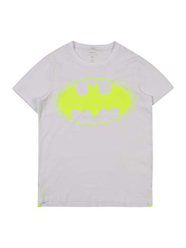 NAME IT Jungen NKMBATMAN Kristoffer SS TOP WAB T-Shirt, Bright White, 134-140