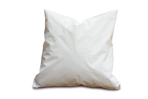 Clinotest Kopfkissenschutzbezug aus PU, wasserdicht und atmungsaktiv, Verschiedene Größen, in der Farbe weiß (80x80 cm)