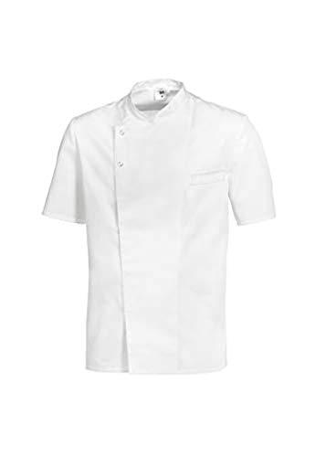 BP 1548-400-21-S - Giacca da cucina a maniche 1/2 con colletto alto e chiusura a bottone nascosto, 215,00 g/m², colore bianco, S