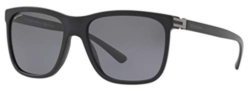 Bulgari 0Bv7027 531381 57 Gafas de sol, Negro (Black/Polargrey), Hombre
