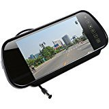 7'' Digital TFT LCD Color HD Car Rear View Mirror Monitor with 2AV input remote control Touch Button Auto 16:9...