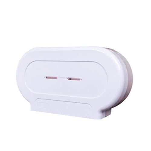 ECSWP YANGDUO Papel higiénico Holder Roll, de Montaje en Pared, de plástico Blanco Titular de baño Roll, Sala de Estar, baño