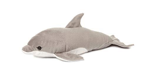 WWF WWF16370 Plüsch Delfin, realistisch gestaltetes Plüschtier, ca. 39 cm groß und wunderbar weich