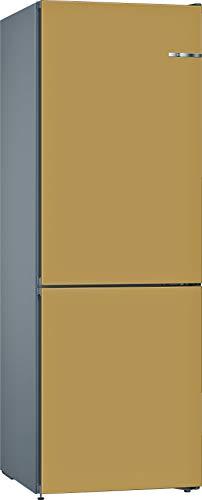 Bosch KVN36CXEA Serie 4 VarioStyle Freistehende Kühl-Gefrier-Kombination / E / 186 cm / 239 kWh/Jahr / austauschbare Türfront Perlgold / 216 L Kühlteil / 89 L Gefrierteil / NoFrost / FreshSense