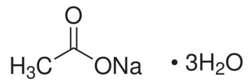 S3 Chemicals Natriumacetat Trihydrat (min. 99,5{e853c54e4fd6272d6f33abd019691b6075fb50a6539ad940d1a68526d176cf3c}, Ph. Eur, USP) Gebindegröße 25kg